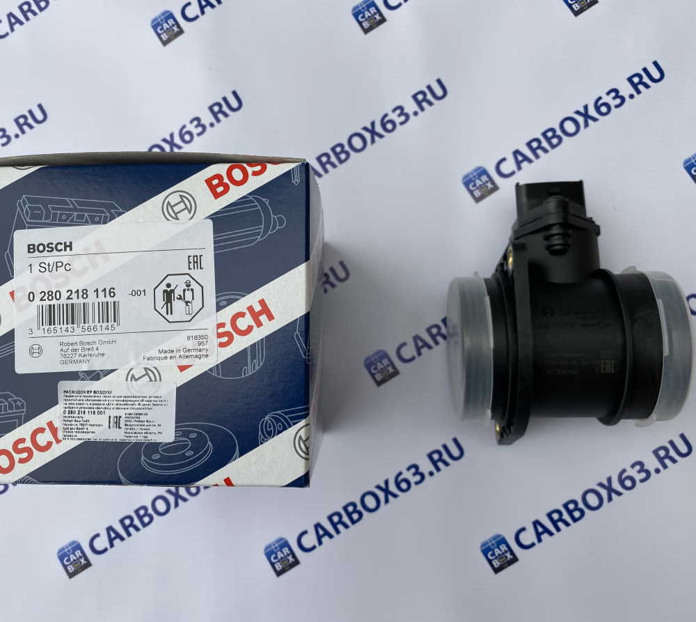Датчик массового расхода воздуха ДМРВ Bosch 0 280 218 116